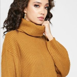 Topshop NEW Roll Neck Ribbed Sweater Size US 8-10